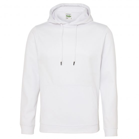 AWDis JH006 Sports Polyester Hoodie Arctic White