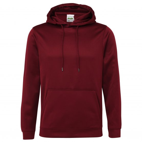 AWDis JH006 Sports Polyester Hoodie Burgundy