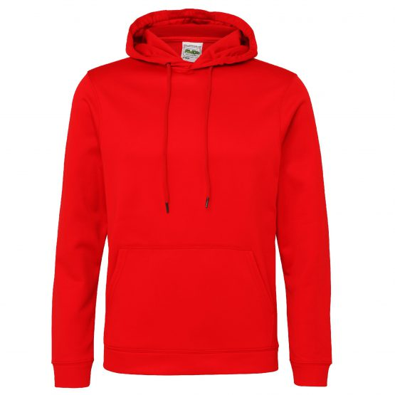 AWDis JH006 Sports Polyester Hoodie Fire Red