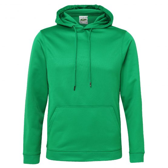 AWDis JH006 Sports Polyester Hoodie Kelly Green