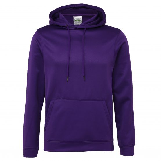 AWDis JH006 Sports Polyester Hoodie Purple