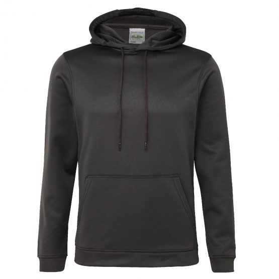 AWDis JH006 Sports Polyester Hoodie Steel Grey