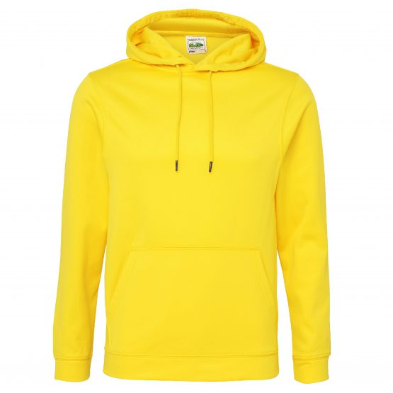 AWDis JH006 Sports Polyester Hoodie Sun Yellow