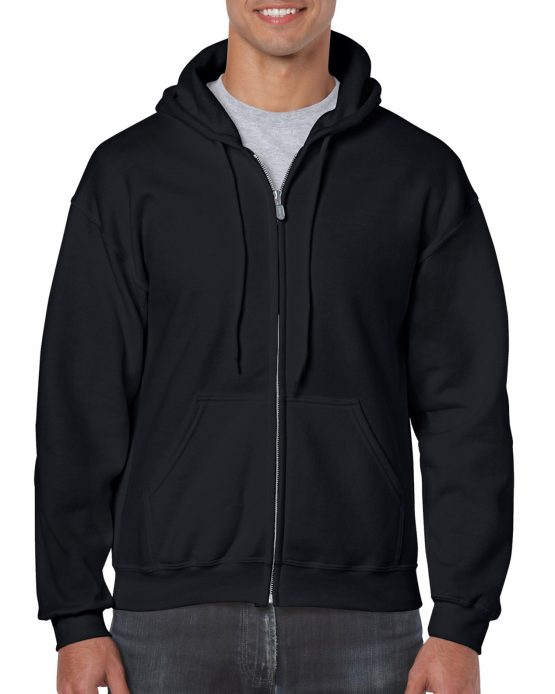 Gildan Heavy Blend Full Zip Hoodie 18600 Black