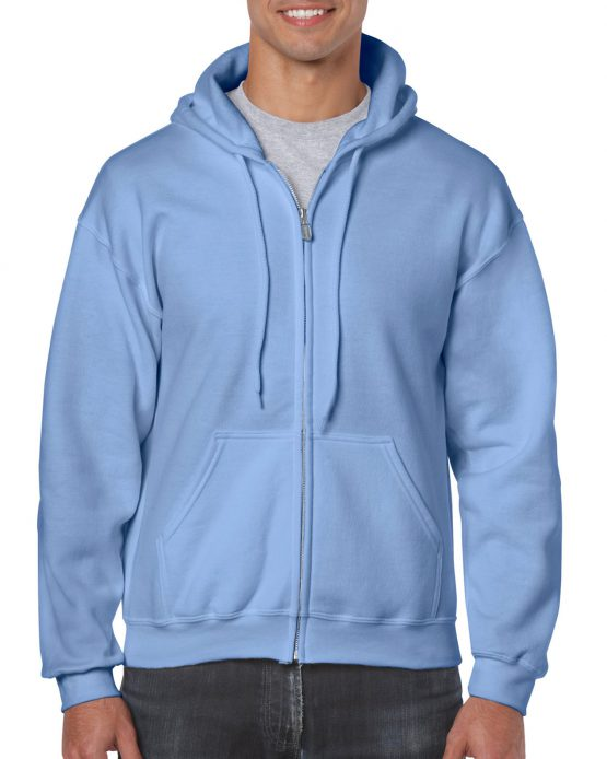 Gildan Heavy Blend Full Zip Hoodie 18600 Carolina Blue