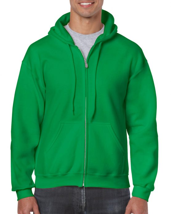 Gildan Heavy Blend Full Zip Hoodie 18600 Irish Green