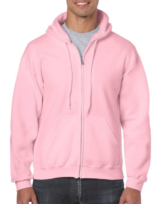Gildan Heavy Blend Full Zip Hoodie 18600 Light Pink