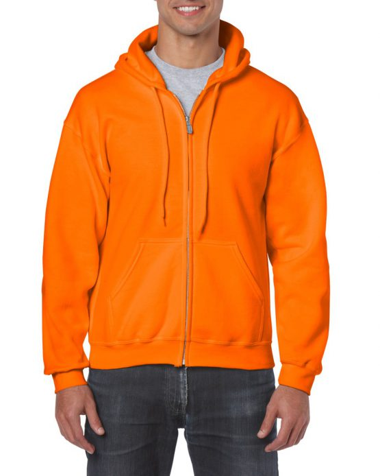 Gildan Heavy Blend Full Zip Hoodie 18600 Orange