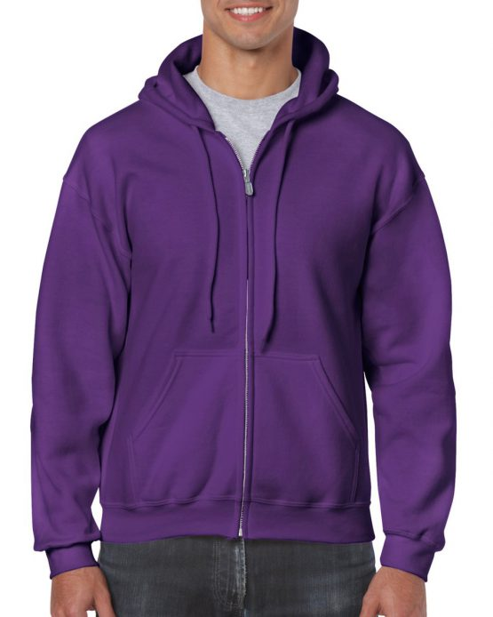 Gildan Heavy Blend Full Zip Hoodie 18600 Purple
