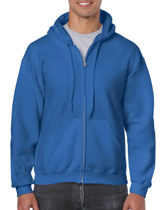 Gildan Heavy Blend Full Zip Hoodie 18600 Royal