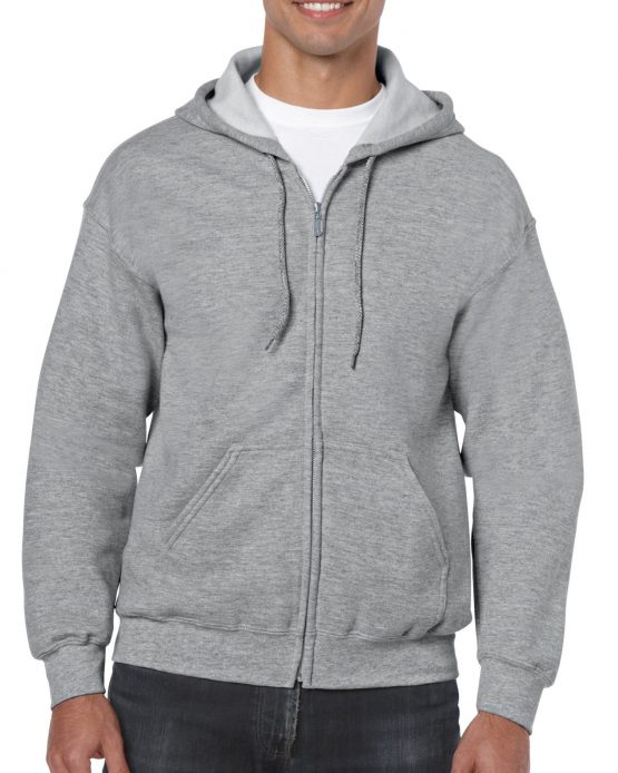 Gildan Heavy Blend Full Zip Hoodie 18600 Sport Grey