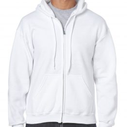 Gildan Heavy Blend Full Zip Hoodie 18600 White