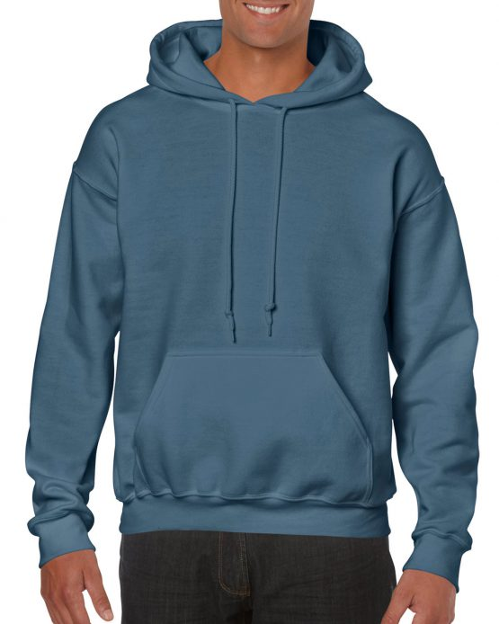 Gildan Heavy Blend Hooded Sweatshirt 18500 Indigo Blue
