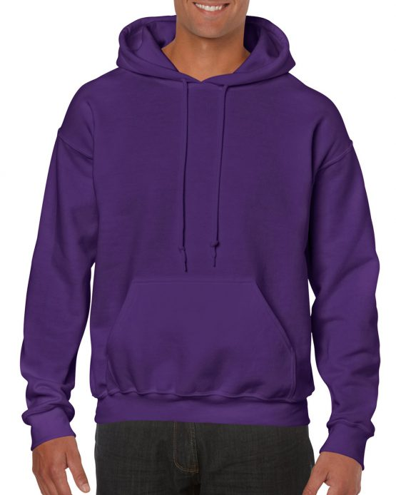 Gildan Heavy Blend Hooded Sweatshirt 18500 Purple