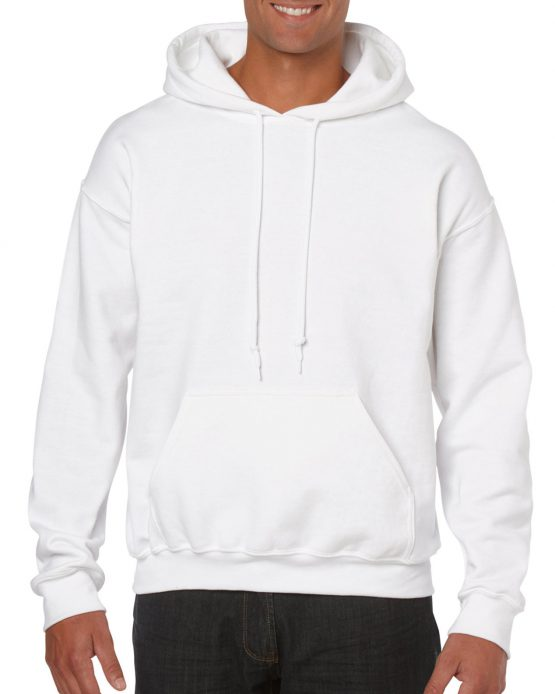 Gildan Heavy Blend Hooded Sweatshirt 18500 White