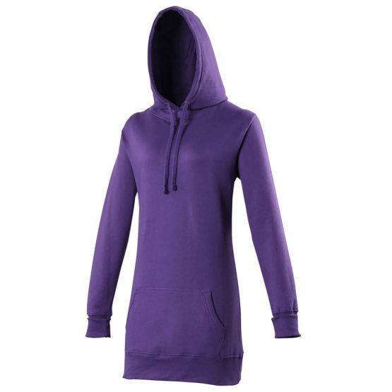 AWDis JH005 Girlie Longline Hoodie Purple