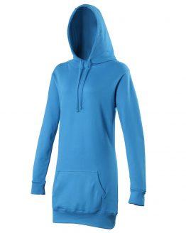 AWDis JH005 Girlie Longline Hoodie Sapphire Blue