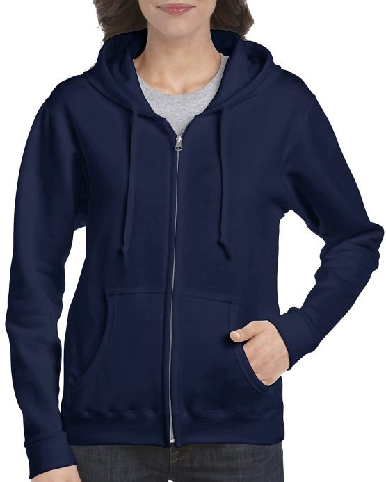Gildan Heavy Blend Ladies Full Zip hoodie 18600FL Navy